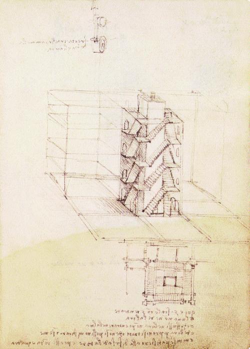 Da-Vinci-Dessins-d'escaliers