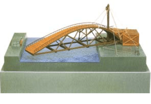 Leonardo-da-vinci-Pattern-of-a-Swing-Bridge
