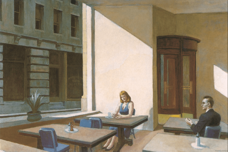 Edward Hopper-Sunlight in a Cafeteria