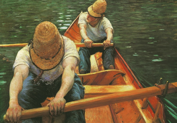 Gustave Caillibotte - Boaters Rowing on the Yerres
