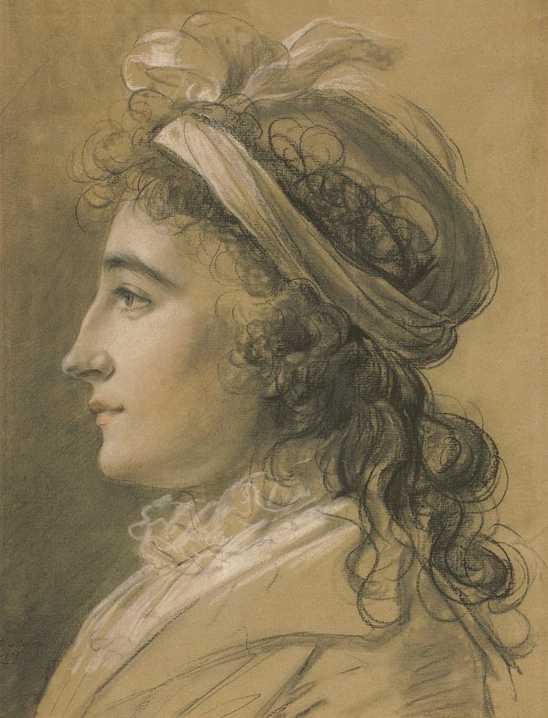 Porträt von Caroline von Thun, 1792-1795. Élisabeth Vigée-Lebrun, Hermann Clemens Kosel