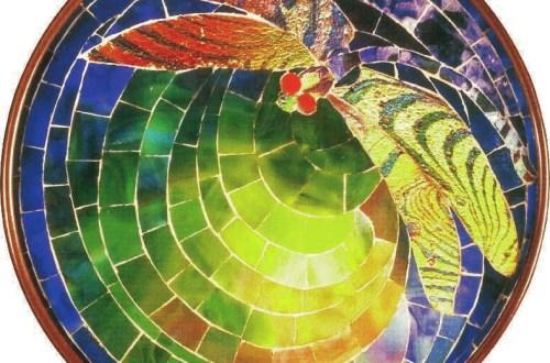 Applique « libellule » en mosaïque, Tiffany, Charles De Kay