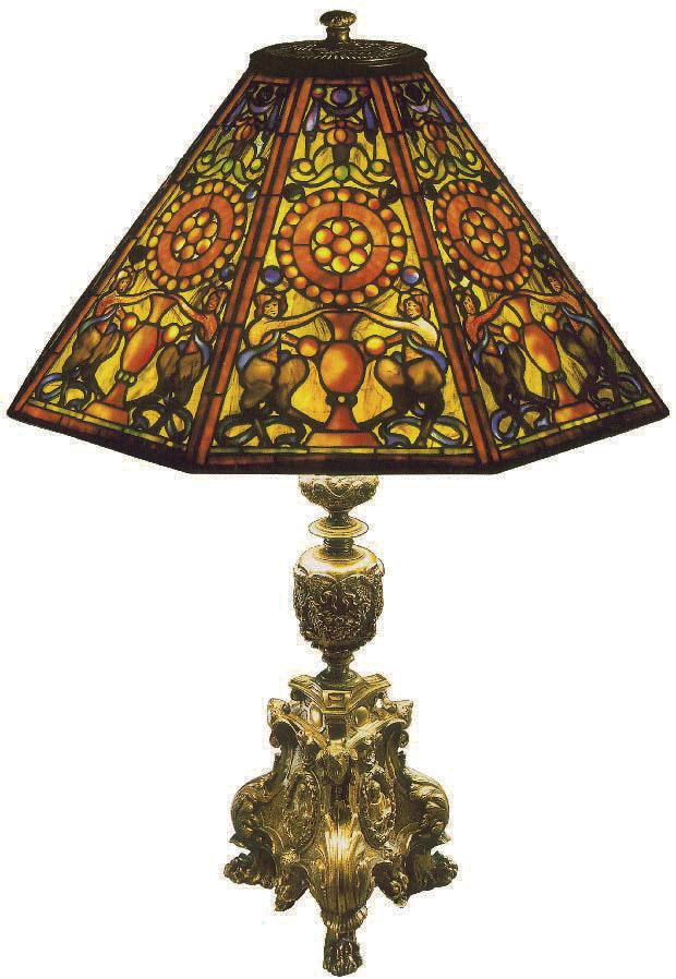 Schreibtisch-Öllampe, Nr. 136, Tiffany, Charles De Kay