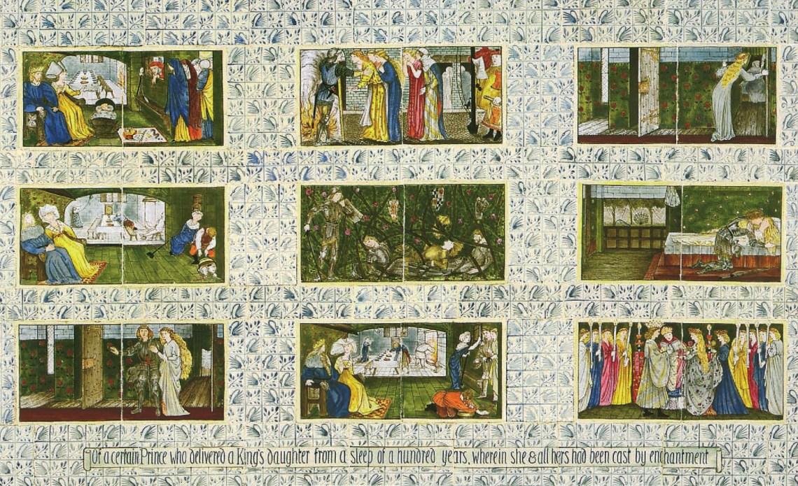Sleeping Beauty, 1862-1865, William Morris, Authur Clutton-Brock