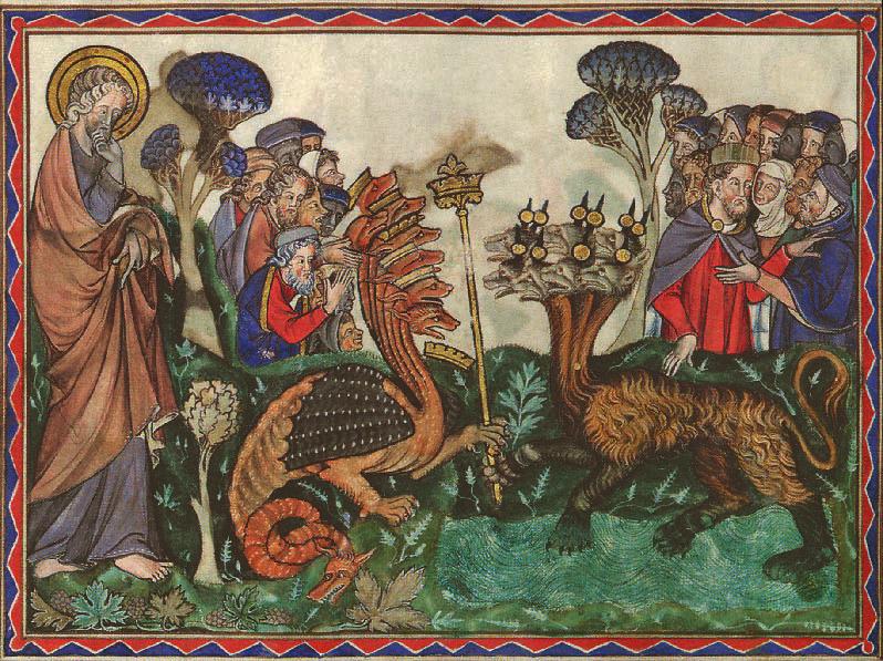 Le Dragon donne du pouvoir à la bête venant de la mer, Apocalypse, Camille Flammarion