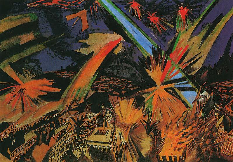 Apokalyptische Stadt, Ludwig Meidner, 1913, Apokalypse, Camille Flammarion
