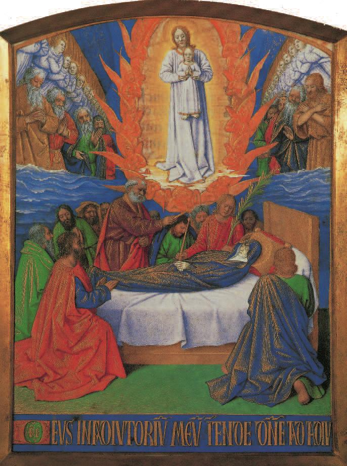 """""""Der Tod der Jungfrau"""" - Stundenbuch des Etienne Chevalier, Jean Fouquet, 1452-1460, Madonnen, Klaus Carl"""