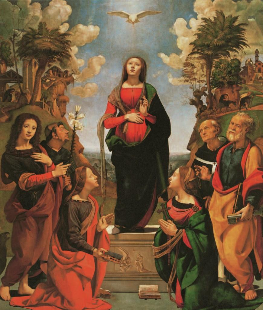 Die Unbefleckte Empfängnis und sechs Heilige, Piero di Cosimo, um 1505, Madonnen, Klaus Carl