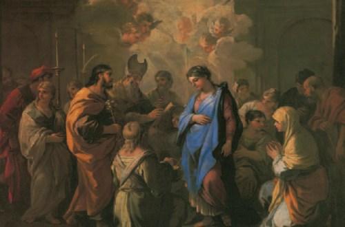Le Mariage de la Vierge, Luca Giordano, vers 1688, Portraits de Vierges, Klaus Carl