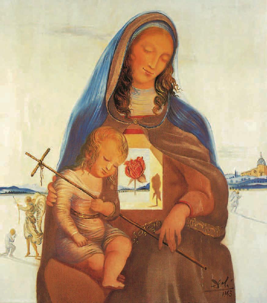 Madone à la rose mystique, Salvador Dalí, 1963, Portraits de Vierges, Klaus Carl