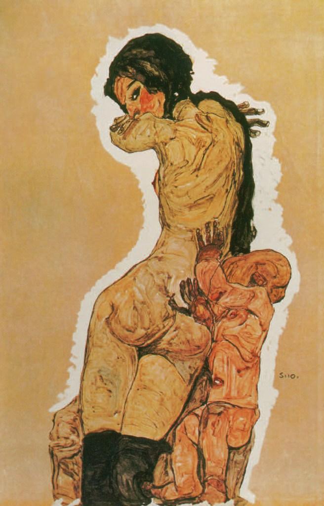 MUTTER UND KIND, 1910, Egon Schiele