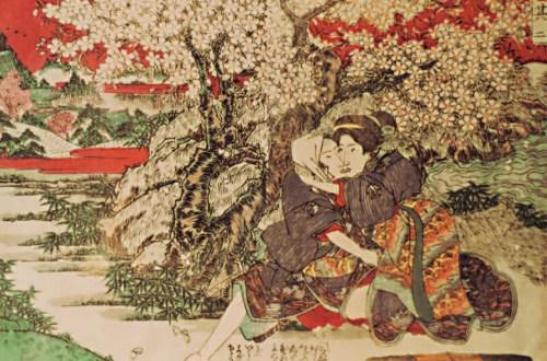Bilder des Frühlings, kolorierte Shunga, Hans-Jürgen Döpp