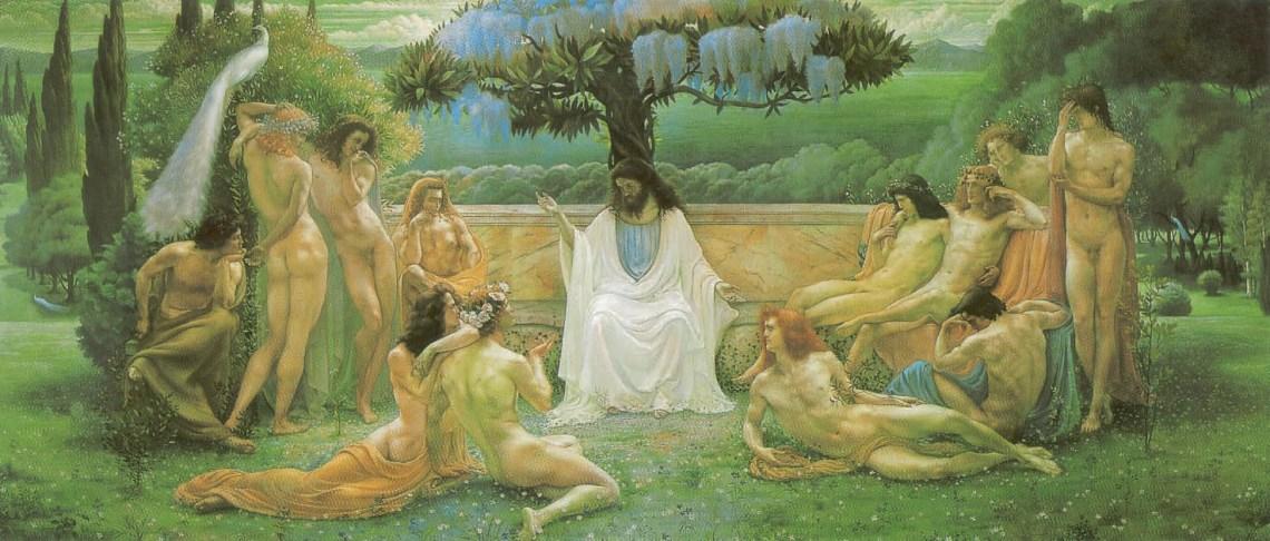 Jean Delville. Plato's Academy, 1898