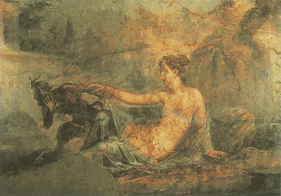 Pan and Hermaphroditus. Wall painting from Pompeii, Homosexuality in Art, James Smalls