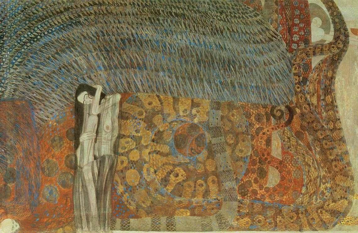 La Frise Beethoven (détail du panneau central), 1902