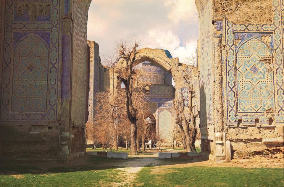 Eingang zum Grab von Timur, Außenansicht, Gur-Emir-Mausoleum, Das Buch der Wunder, Marco Polo