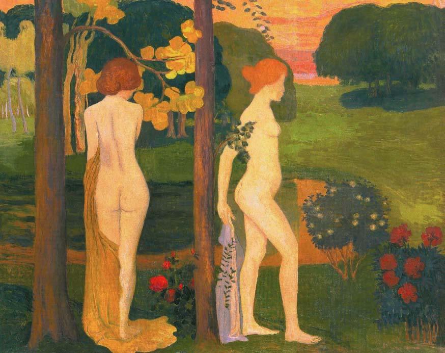 Aristide Maillol, Deux Nus dans un paysage, vers 1890-1895, Les Nabis, Albert Kostenevitch