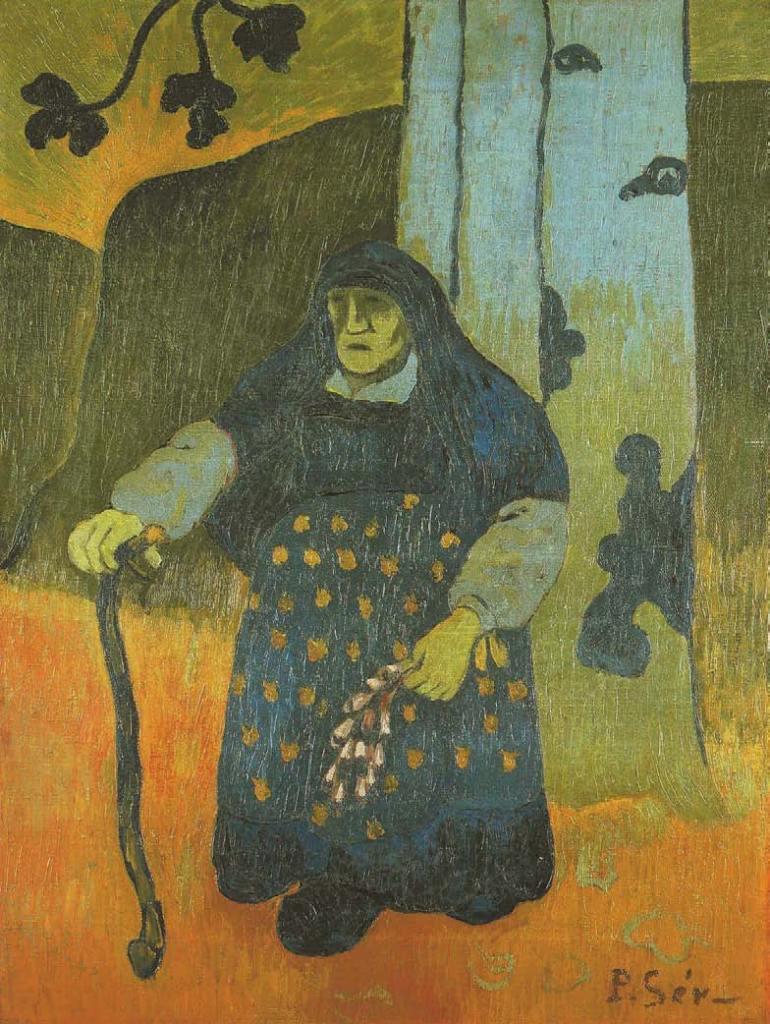 Paul Sérusier, Vieille Bretonne sous un arbre, vers 1898, Les Nabis, Albert Kostenevitch