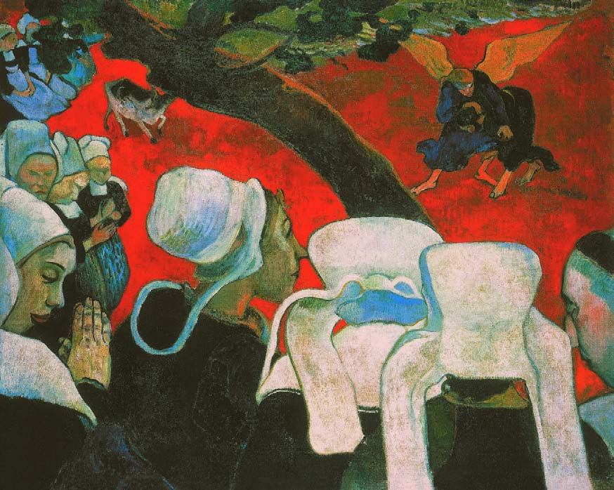 Paul Gauguin, Vision of the Sermon (Jacob Wrestling with the Angel), 1888, The Nabis, Albert Kostenevitch