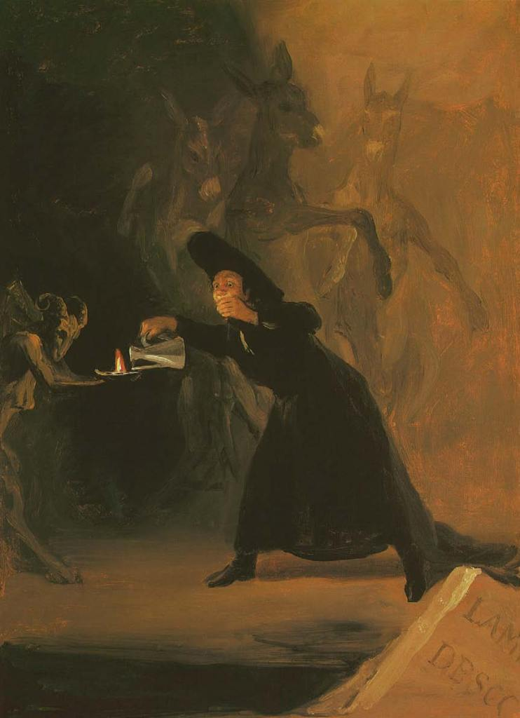 Francisco de Goya y Lucientes, The Bewitched Man, a scene from El Hechizado por Fuerza (''The Forcibly Bewitched''), 1798, Art of the Devil, Satan