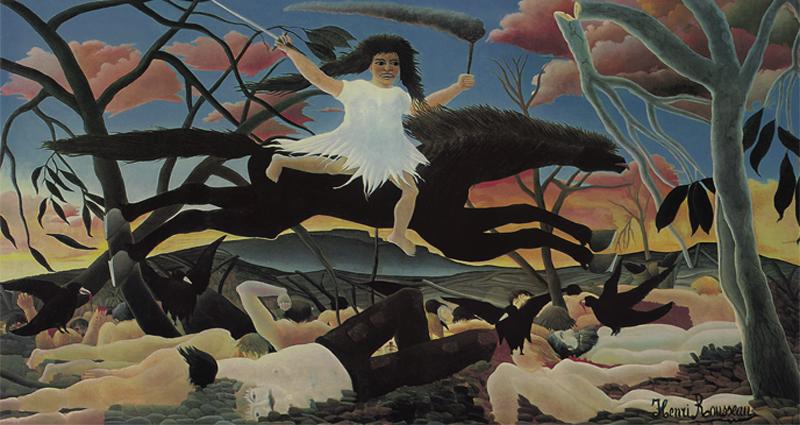 Henri Rousseau, Der Krieg oder Die reitende Zwietracht, 1894, Naive Kunst, Nathalia Brodskaya