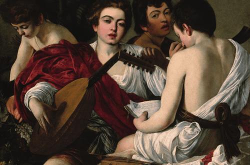 The Musicians, c. 1595, Michelangelo da Caravaggio, Félix Witting, M.L. Patrizi