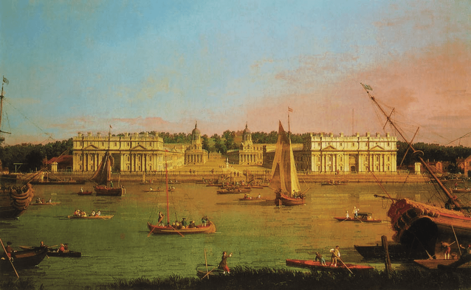 Greenwich Hospital from the North Bank of the Thames, c. 1752, Canaletto, Octave Uzanne