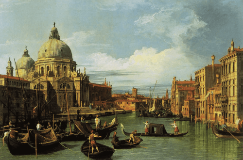 The Entrance to the Grand Canal, Venice, c. 1730, Canaletto, Octave Uzanne