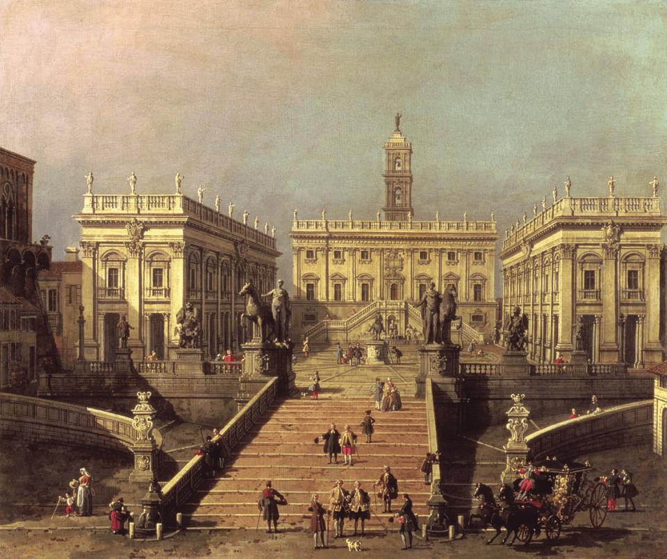 View of Capitole Square, the Cordonata, Canaletto, Octave Uzanne