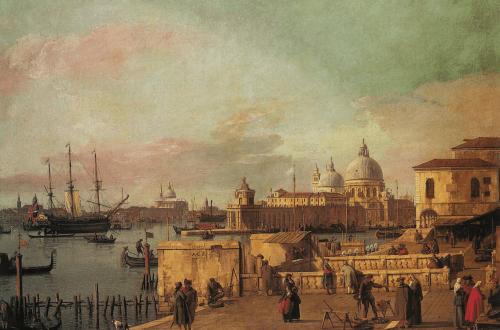 Mündung des Canal Grande, vom Ende des Kais aus gesehen, Venedig, 1742-1744, Canaletto, Octave Uzanne