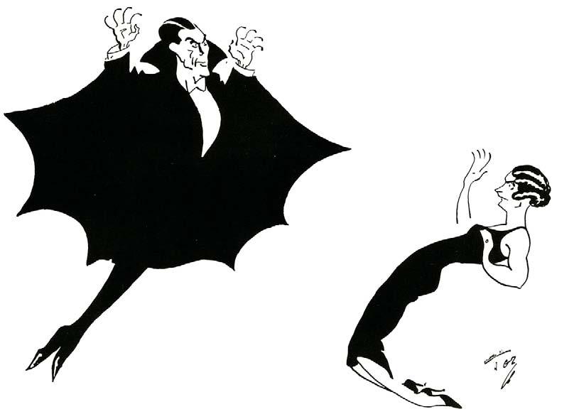 Un dessin humoristique publié dans The Tatler Magazine, 14 décembre 1927