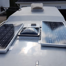 Setting up the solar panels