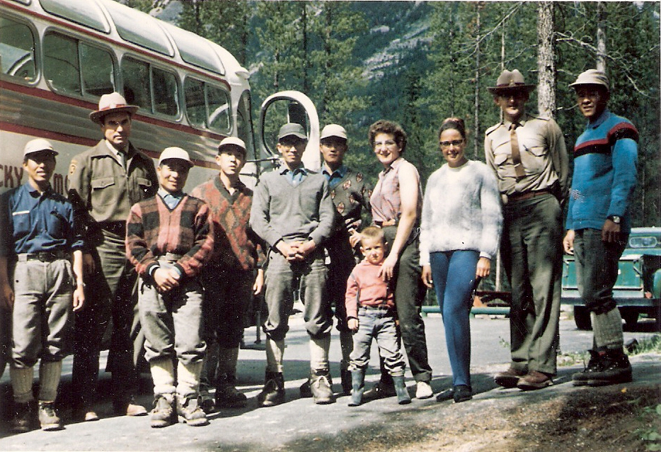 Japanese Climbing Party with wardens Max Winkler and Abe Loewen 1964 Jasper National Park