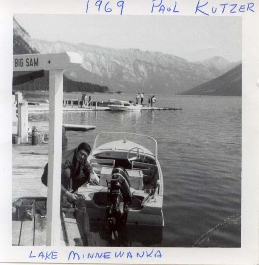 Paul Kutzer at Minnewanka