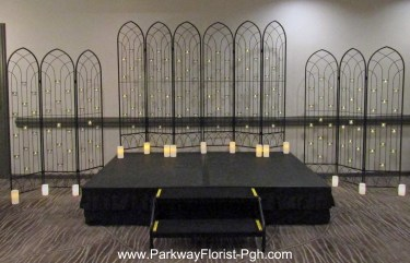 Screens With Candles for Ceremony