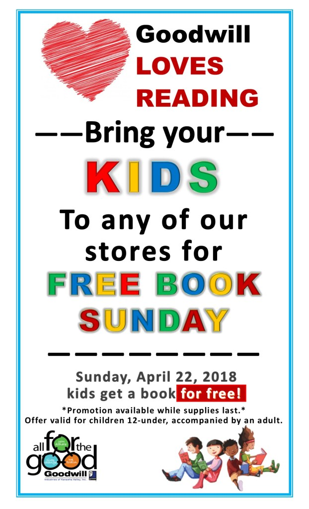 Free books at Goodwill in Vienna - 4/22/2018