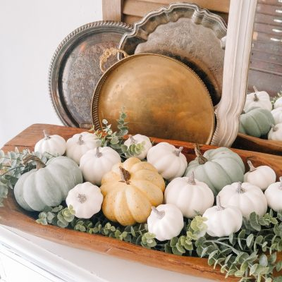 Fall Decor for a French Country Buffet