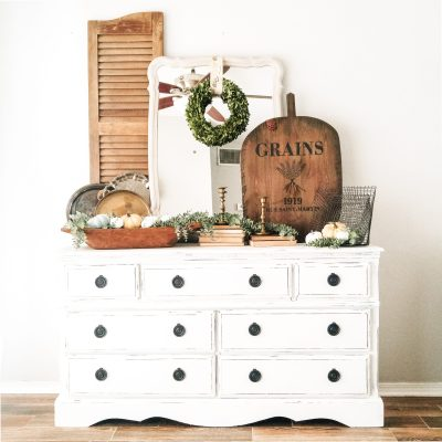Chalked Paint Tutorial: French Country Buffet