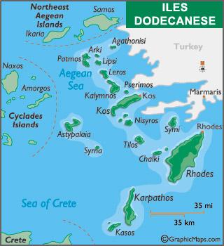Oniki Adalar Haritası Oniki Ada