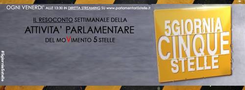 #5giornia5stelle/10 – #lifacciamosudare – 20/9/2013 Live streaming ore 13.30