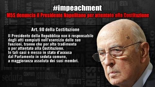 Il M5S presenta l' #impeachment per Napolitano: il documento