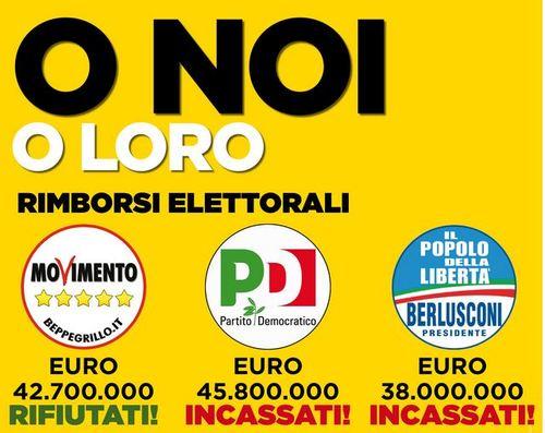 #Vinciamonoi: manifesti e volantino del M5S per le elezioni europee