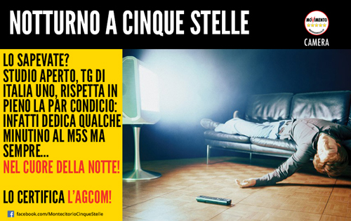 "Notturno a 5 stelle: la ""par condicio"" secondo Mediaset!"