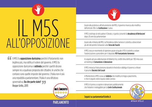 #Italia5Stelle: ecco tutti i materiali informativi pronti da scaricare!