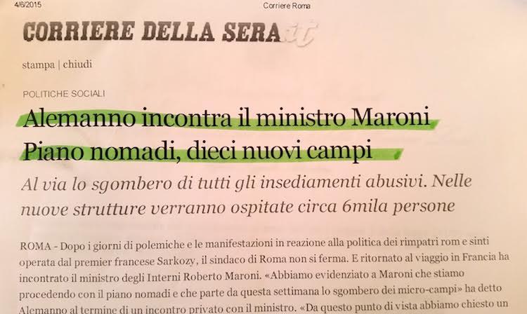 #MafiaCapitale: fu la Lega a finanziare il business nomadi dell'arrestato Scozzafava