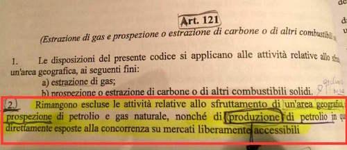 Niente gare per il petrolio nel nuovo codice appalti. Renzi e Delrio, qualcosa da dire?