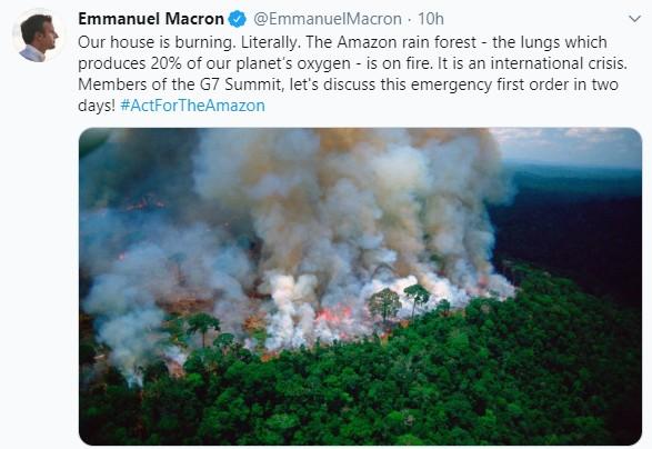 AMAZZONIA, SCONTRO SU TWITTER TRA MACRON E BOLSONARO - PARLAMENTONEWS