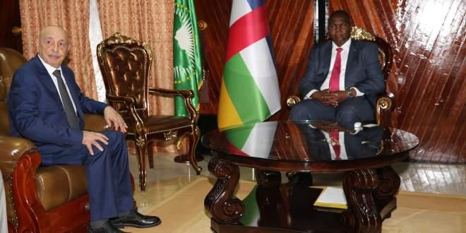 فخامة رئيس مجلس النواب يلتقي رئيس جمهورية أفريقيا الوسطى