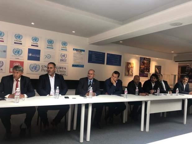 لقاء النائب الأول وعدد من النواب مع المبعوث الأممي ونائبته