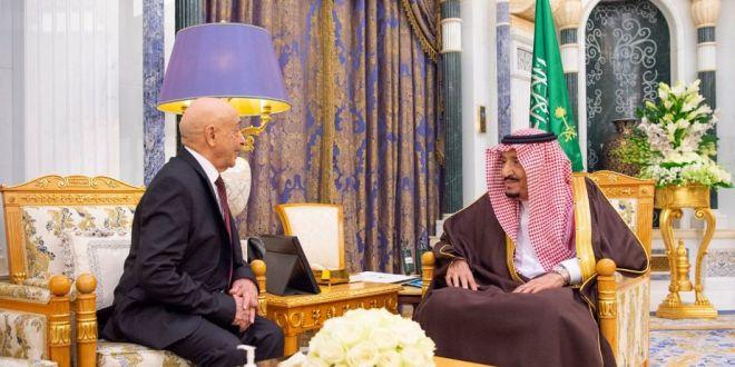 رئيس مجلس النواب  يلتقى خادم الحرمين الشريفين الملك سلمان بن عبدالعزيز بالعاصمة السعودية الرياض